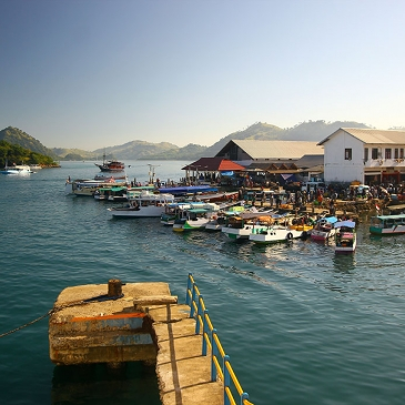Red Whale Dive Center - Small Village on Komodo Island